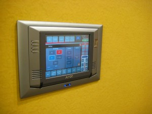 Wall-mount control touch panel