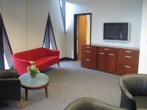 Athletic Director's Lounge area