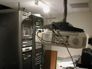 Projector in Equipment Room