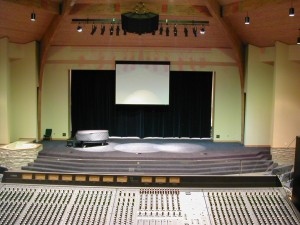 Main Sanctuary view from behind Audio Console