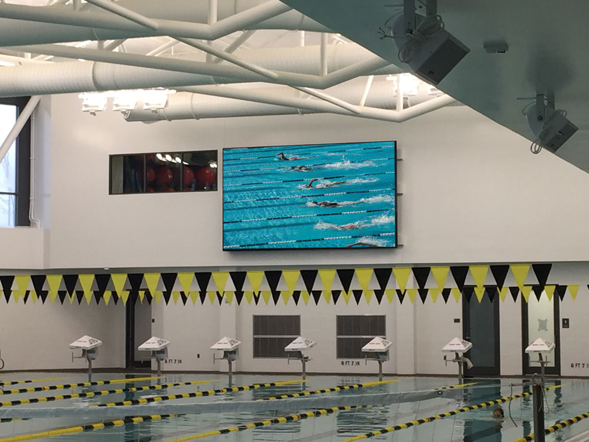 Video Wall in pool area