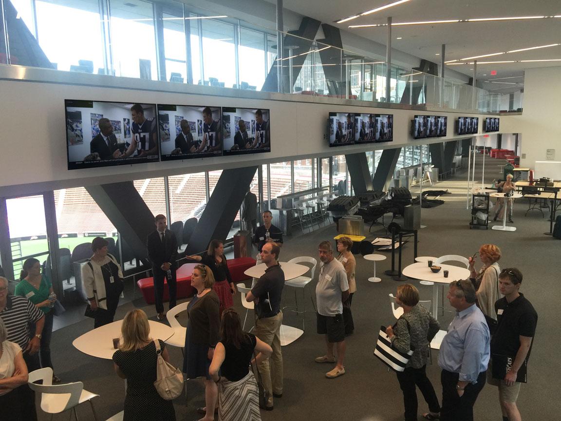 Concourse TVs over central suites area
