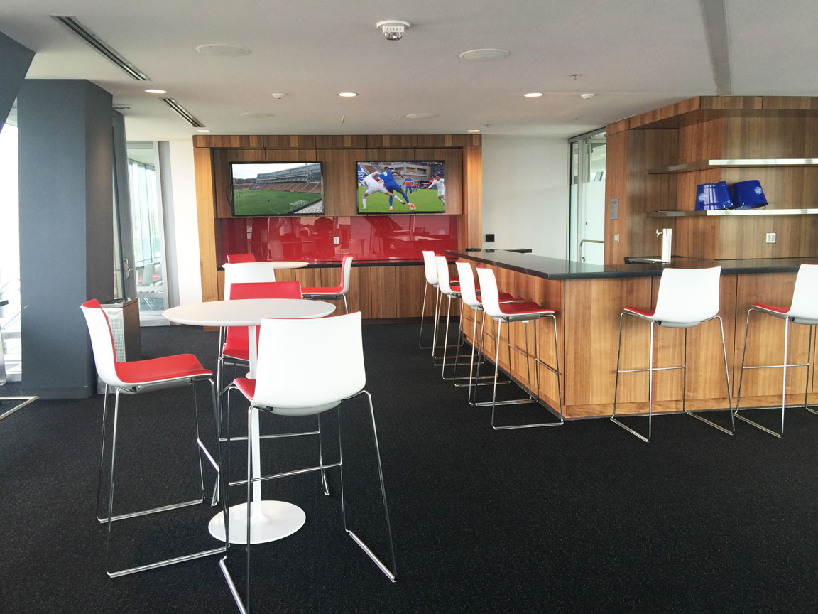 Luxury Suite with two channels of video feed and sound