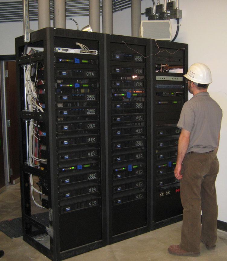 Installing the AV Equipment and Amplifier rack