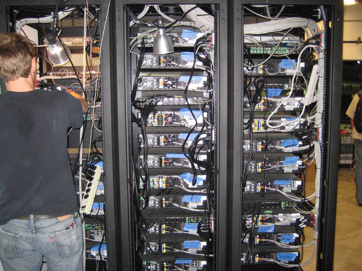 Cabling the AV Equipment Racks