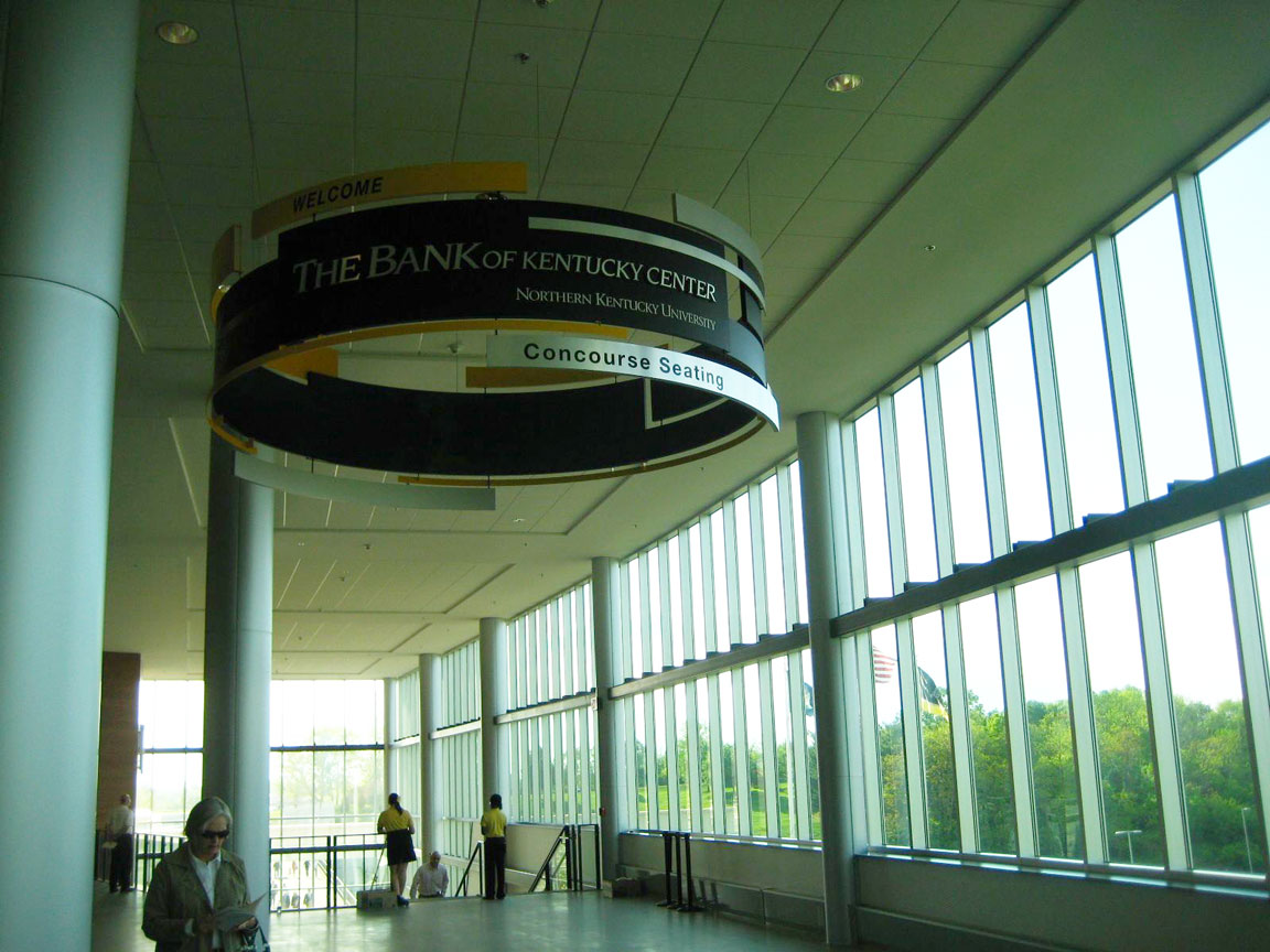 Concourse with distributed sound system