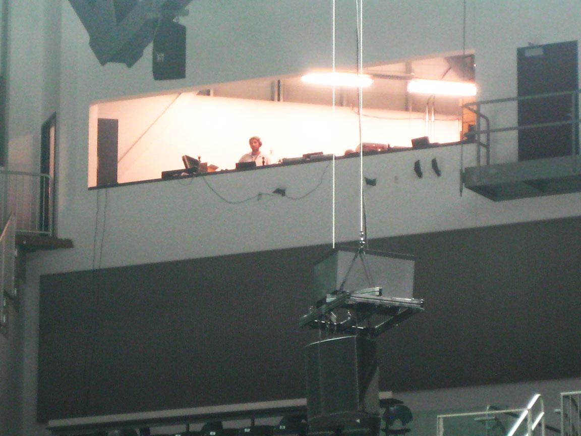 AV Control Room overlooking Arena