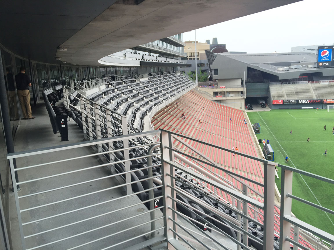 View of stands and suites above